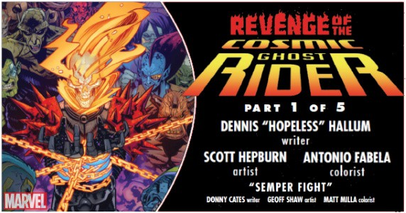 REVENGE OF THE COSMIC GHOST RIDER #1 preview feature