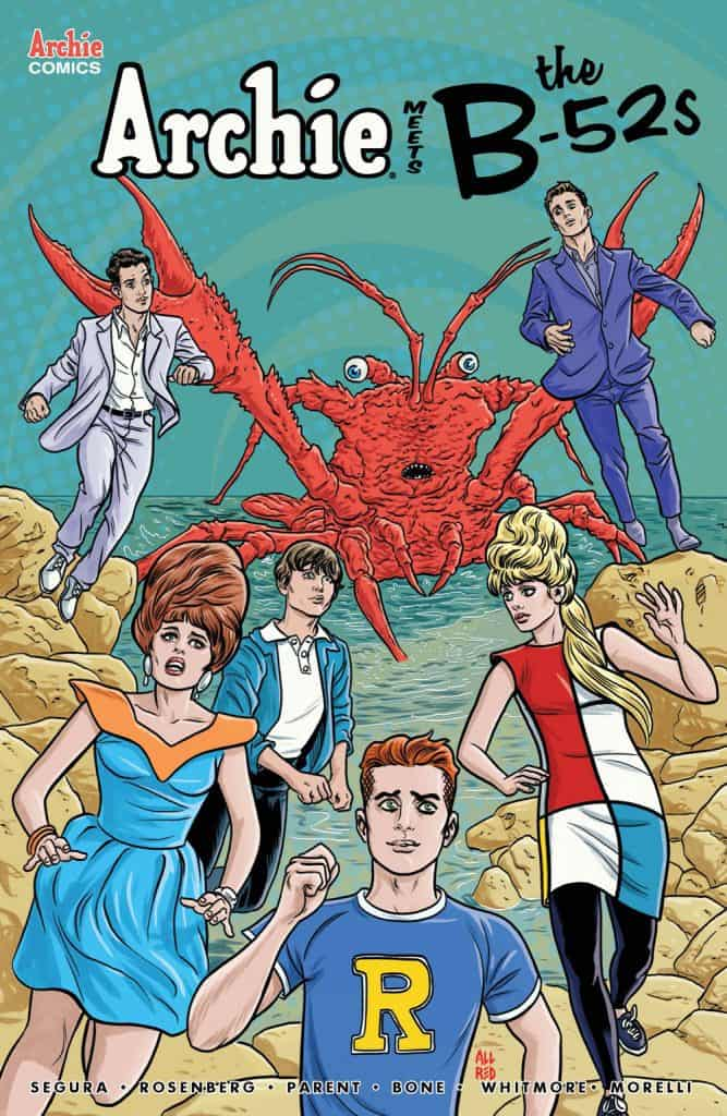 ARCHIE MEETS THE B-52s #1 - Variant Cover by Mike Allred