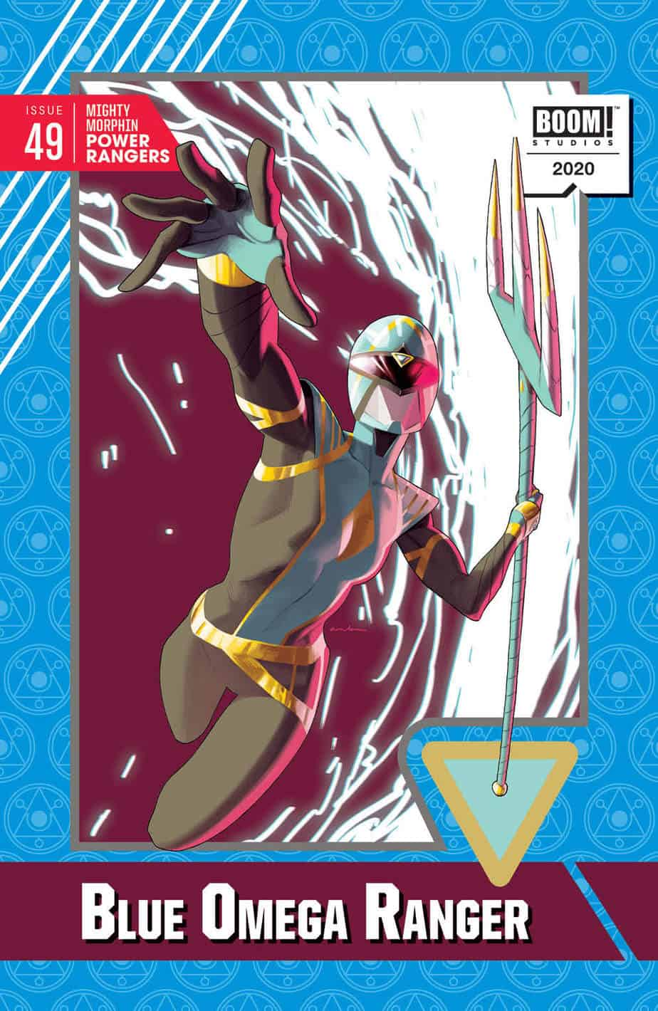 Mighty Morphin Power Rangers #49 - Trading Card Variant Cover