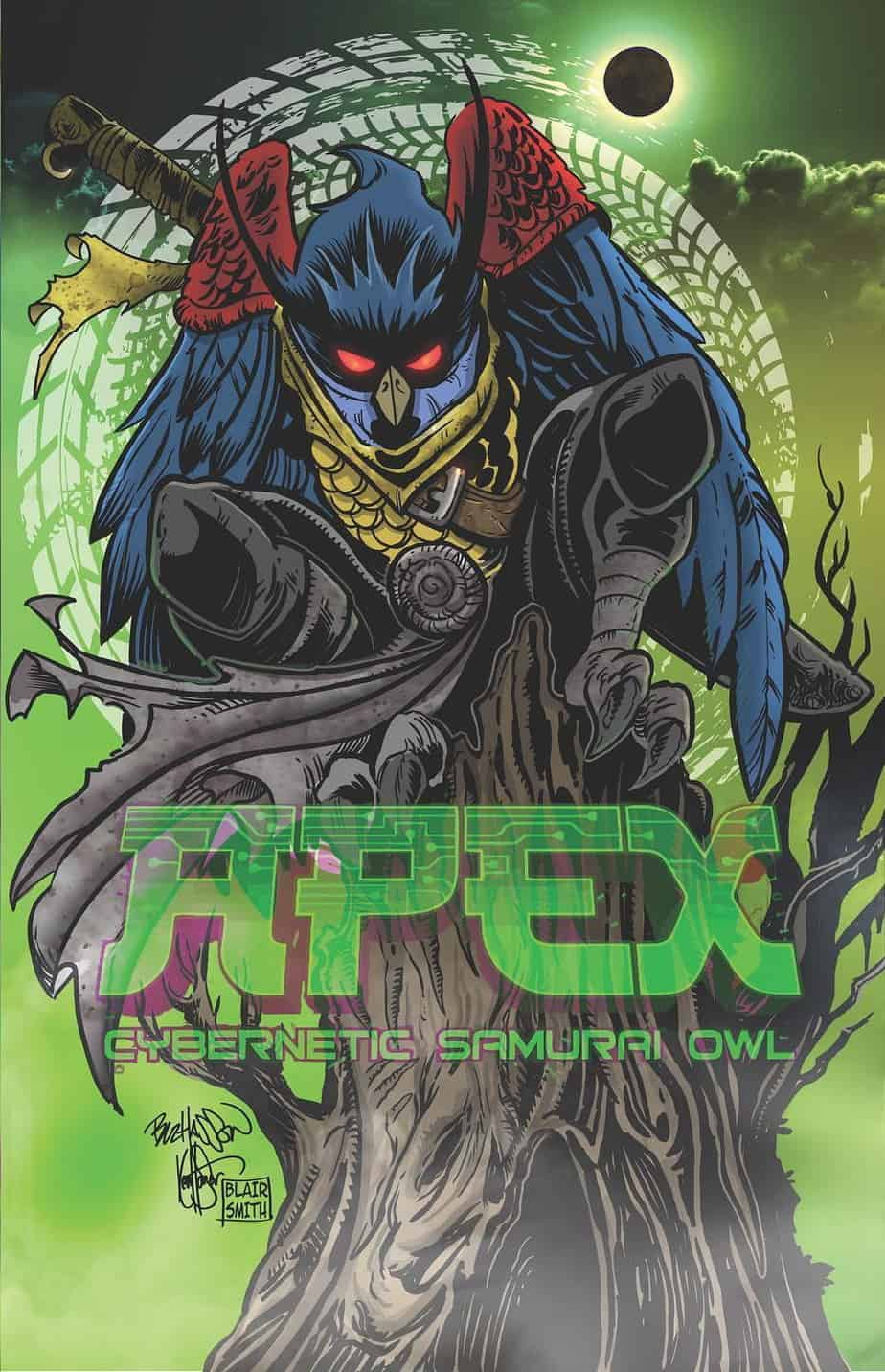 Apex: Cybernetic Samurai Owl #1 - Variant Cover by The Corpse Crew