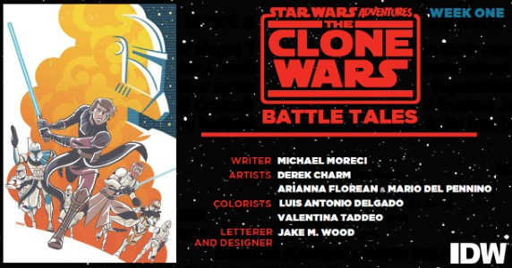 STAR WARS ADVENTURES CLONE WARS – Battle Tales #1 preview feature