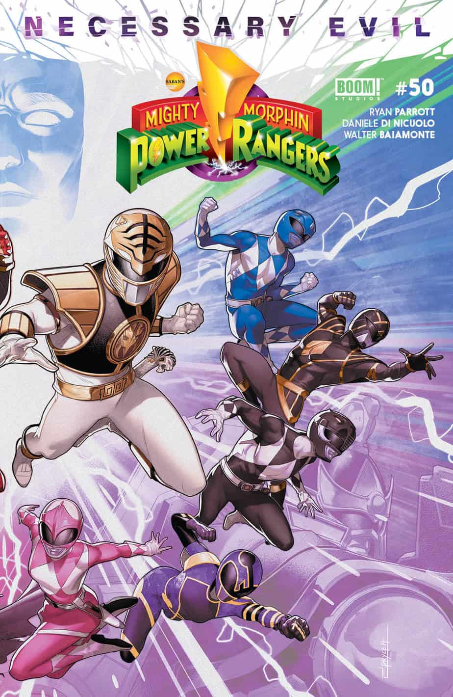 Mighty Morphin Power Rangers #50 - Cover B (Connecting)