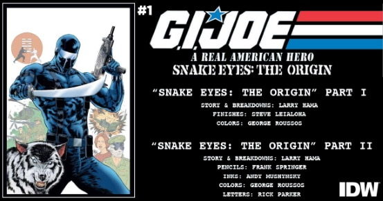 G.I. JOE A REAL AMERICAN HERO Snake Eyes – The Origin #1 preview feature