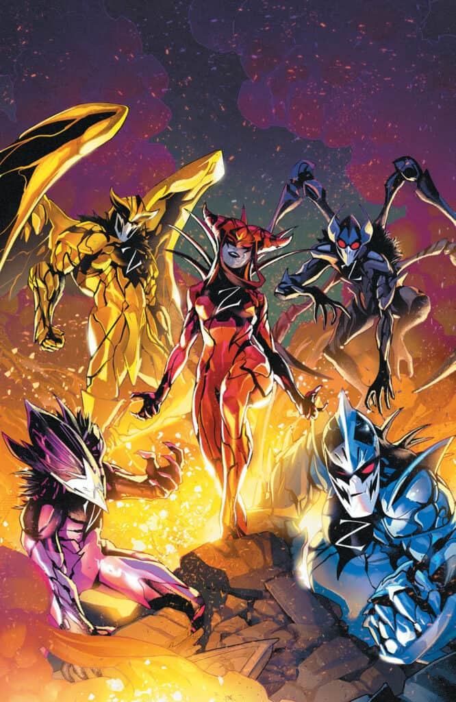MIGHTY MORPHIN POWER RANGERS #53 - Virgin Variant Cover