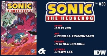 Preview Idw S 8 19 Release Sonic The Hedgehog 30 Popculthq