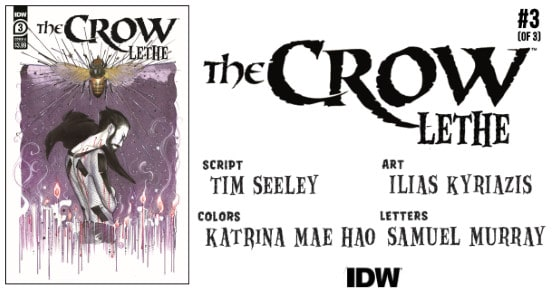 THE CROW Lethe #3 preview feature
