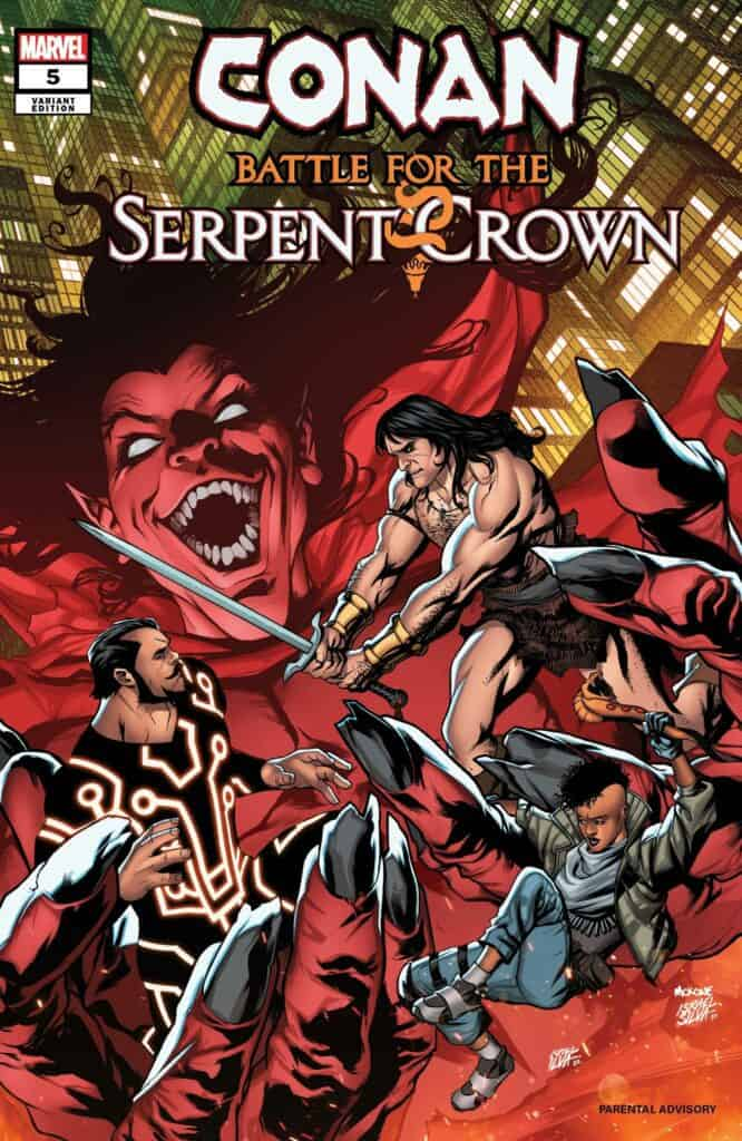 CONAN: Battle for the Serpent Crown #5 - Cover C