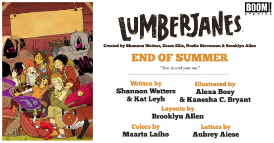 LUMBERJANES End of Summer #1 preview feature