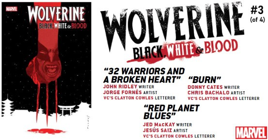 WOLVERINE Black White & Blood #3 preview feature