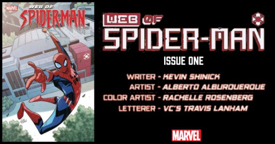 W.E.B. of SPIDER-MAN #1 preview feature
