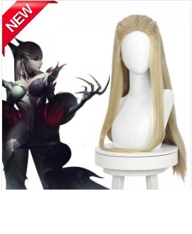 LOL Coven Skins Evelynn Light Blonde Long Cosplay Wigs